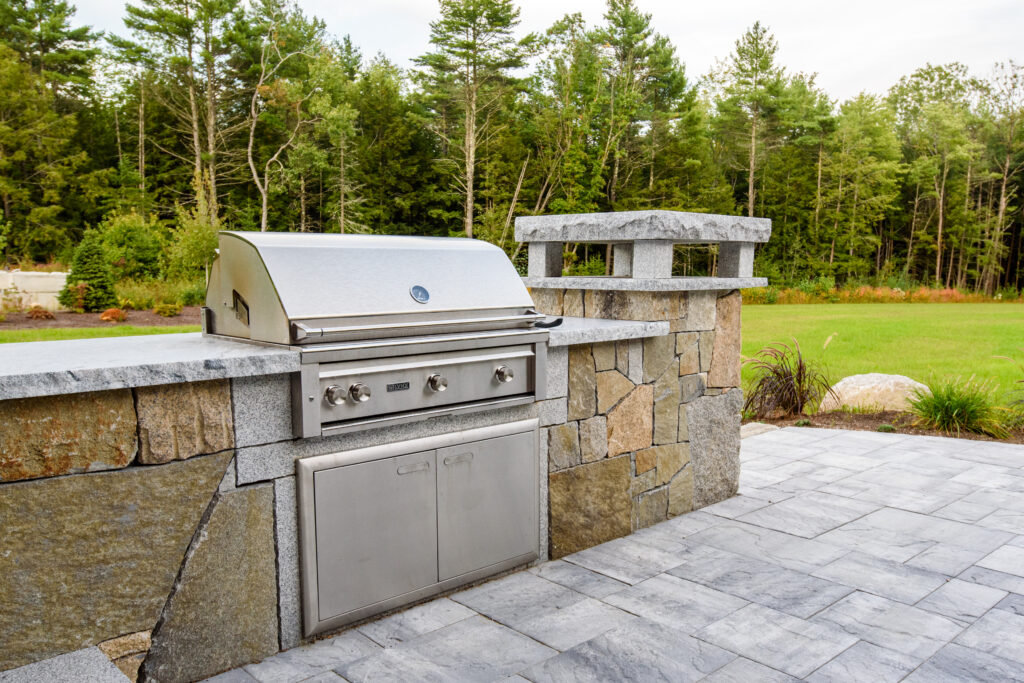 Grill with Stone