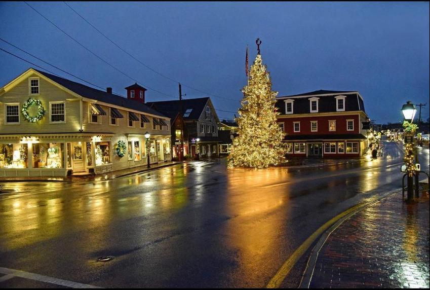 Kennebunkport, Maine Christmas Tree at night